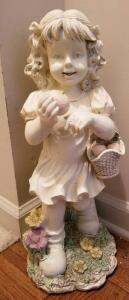 LITTLE GIRL RESIN STATUE 19""