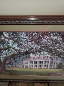 Antebellum home print, limited edition 827/950, artist signed.
