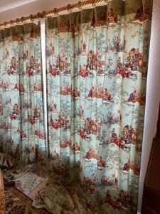 "Two Panels of Drapes, 60"" wide 104"" long"