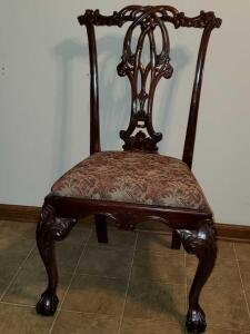 Set of FIVE antique armless dining chairs