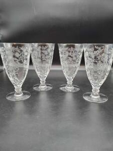 Vintage Fostoria etched stemware. Total of 15 stems.