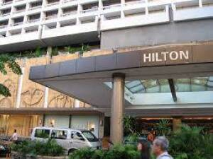 One night stay in any Hilton Hotel.