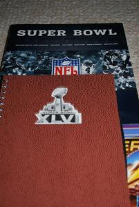 Superbowl Cocktail Table Book, Notepad, and Superbowl I - XL Collectors DVD Set