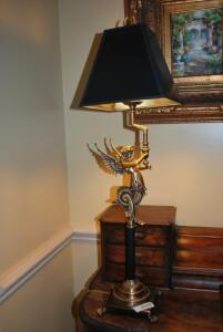 Black and gold desk lamp - black shade