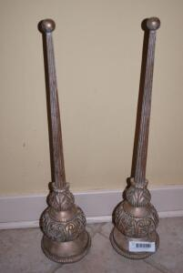 Gold decorative table top finials-gold/bronze antique effect
