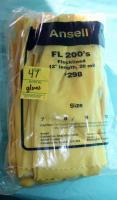 "1 pack of 12, 12"" long size 8 rubber gloves"