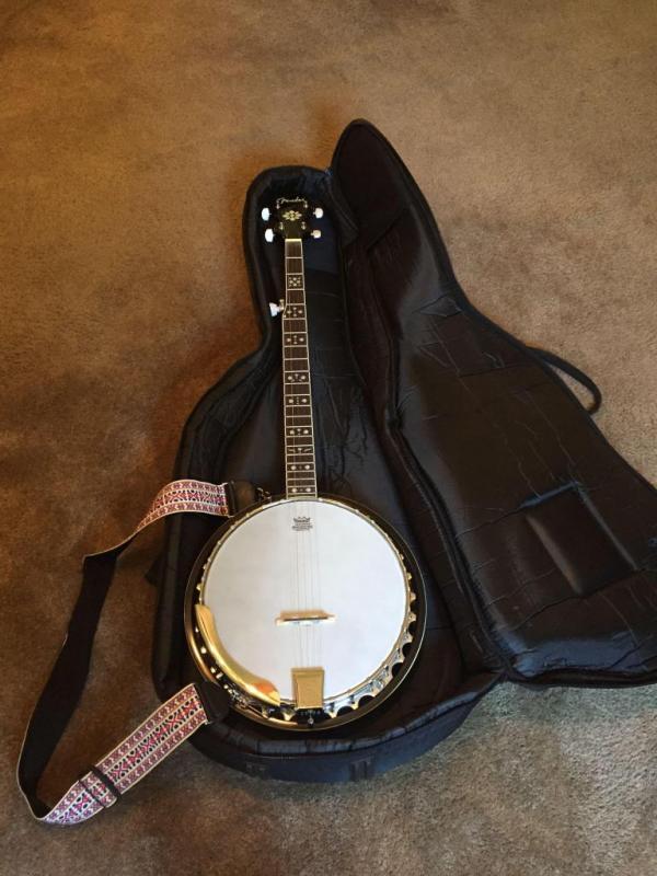 Fender 5 String Banjo with Soft Case - Current price: $180