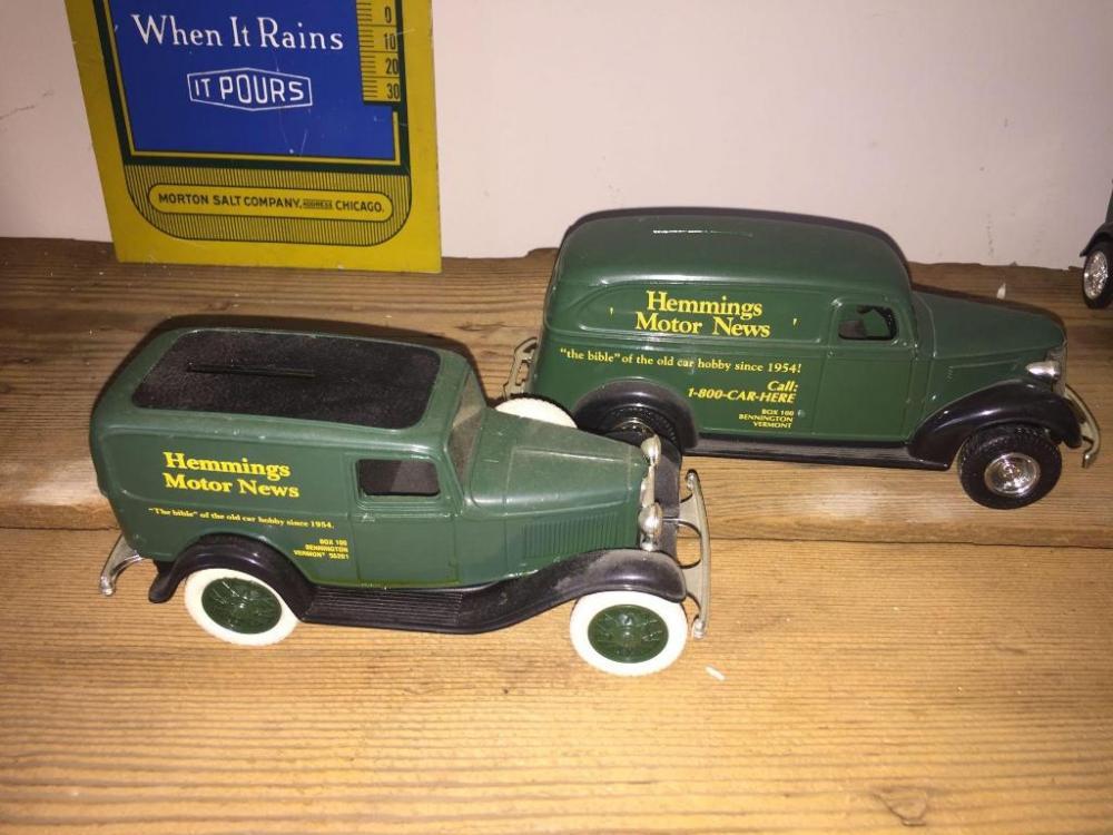 Hemmings Motor News die-cast replica car coin banks