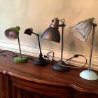 Collection of 4 Desk Lamps