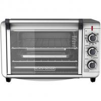BLACK+DECKER 6-Slice Convection Countertop Toaster Oven, Silver, TO3000G