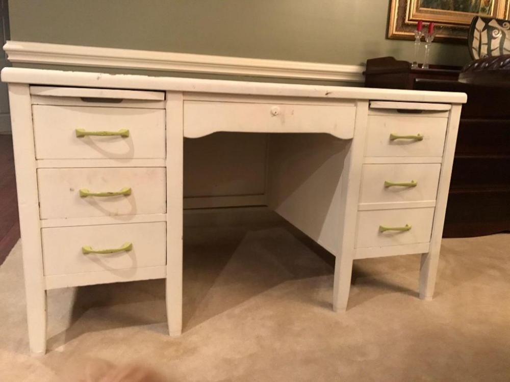Wonderful Lot 59 Of 78: Vintage Physicianu0027s Desk By Indiana Desk Company Home Design Ideas