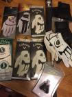 Golf gloves, drizzle stick, ball pick up, new golf shoes, golfing books