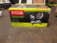 "Ryobi 10"" Sliding Compound Miter Saw with Laser"
