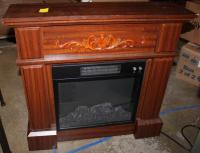 Prokonian Electric Fireplace - Cherry Finish Excellent Used Condition!!