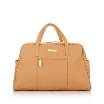JOY & IMAN Fashionably Functional Weekender Duffle - Caramel Camel - BRAND NEW!