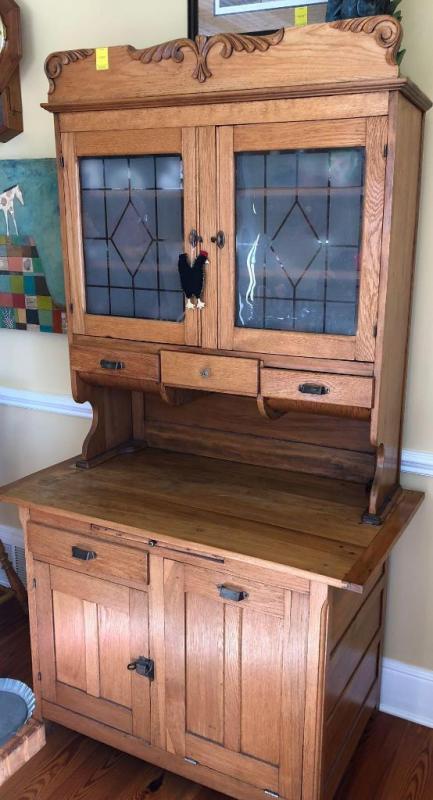 Oak Hoosier Style kitchen cabinet