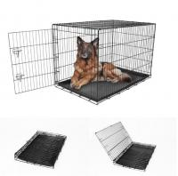 XLarge Dog Crate Kennel Folding Pet Wire Cage Compact Single Door