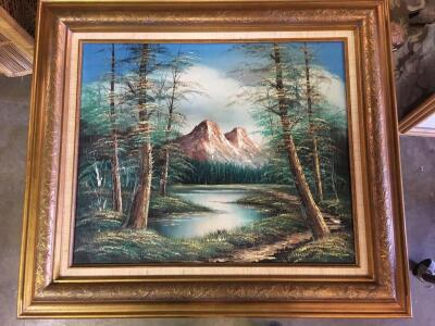 "Nice 28"" x 32"" Oil Painting - Professionally framed!!"