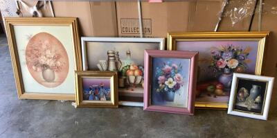 Lot of 6 Oil Paintings, nicely framed