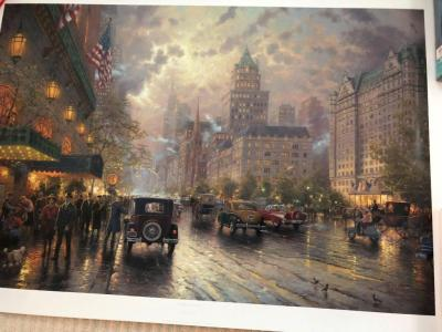 "Thamas Kinkade ""New York, 5th Avenue"" With Certificate of Authenticity"