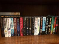 Collection of David Baldacci and Harlan Coben hardback books in mint condition