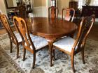 Dining table with 1 arm chair with 5 side chairs