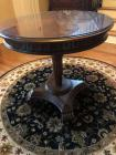 Beautiful Round entry hall or end table with protective glass