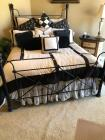 Queen size black iron bed