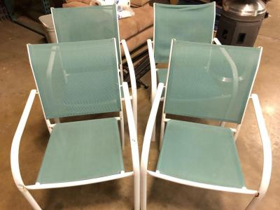 Set of 4 metal/mesh Patio Chairs