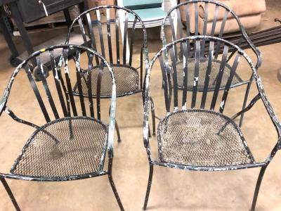 Set of 4 Metal Patio Chairs