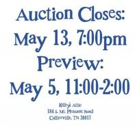 Welcome to Kelley's Attic Online Auction - Ends May 13, beginning at 7:00pm