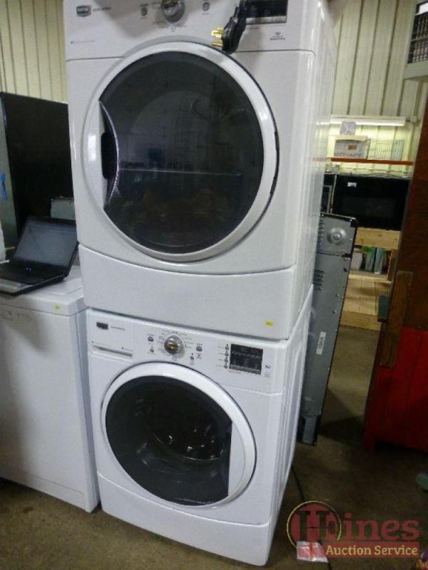 Maytag 2000 Series Stackable Elwasher Mede201yw0 And Dryer Mhwe201yw00 Unit 5 Year Transferable Warranty Valid To 2018 Just Purchased January 2017