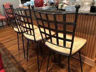 3 swivel bar stools