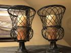 Pair of wire decorative candle holders