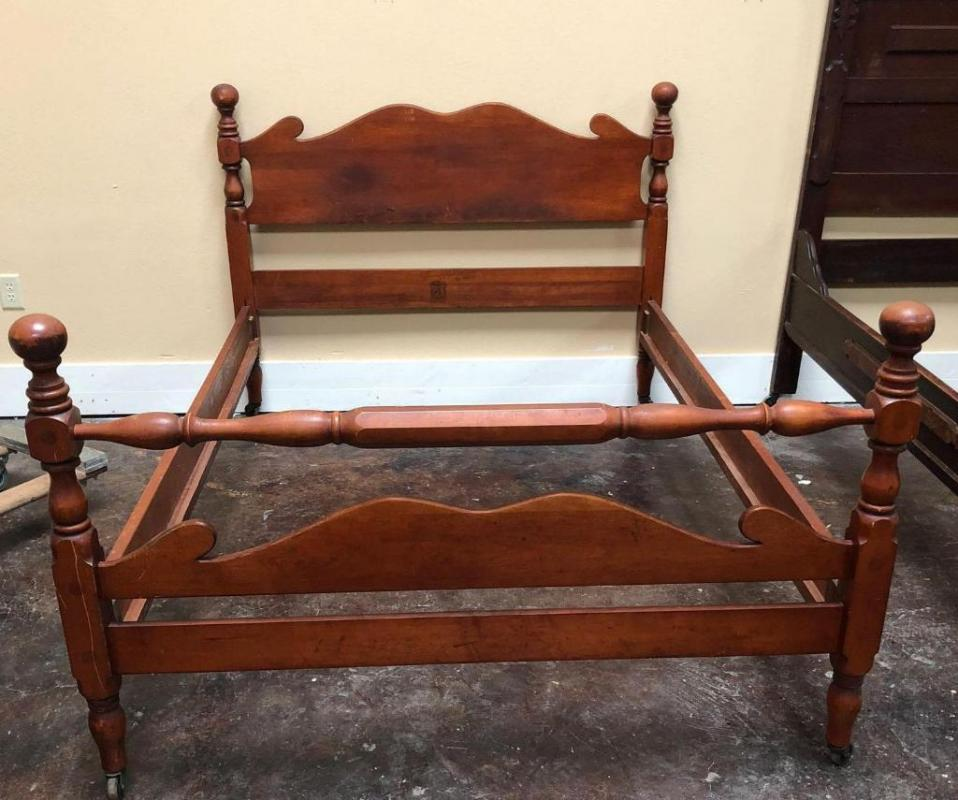 Lot 26 Of 173 Circa Mid Century Vintage Full Size Cherry Bed Frame By Consider H Willett Louisville