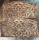 Set of 2 Very Heavy Duty Iron Basement Window Gates - Very old!!!