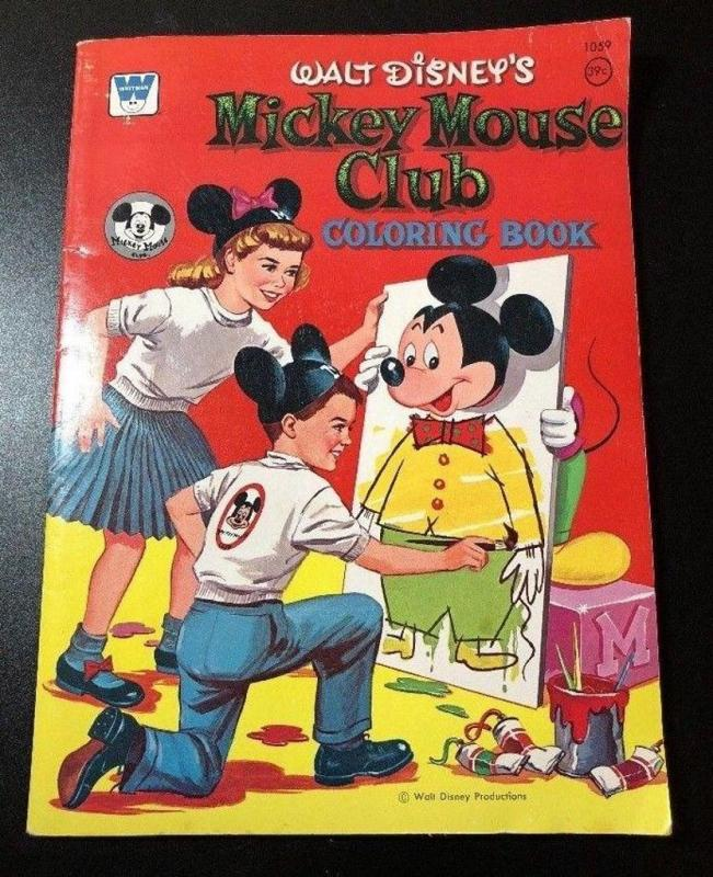 Vintage 1957 Walt Disney's MICKEY MOUSE CLUB TV SHOW Whitman ...