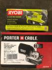 "Ryobi 3"" X 18"" and Porter Cable 3"" X 21"" Belt Sanders"