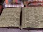 Pair of green decorative pillows