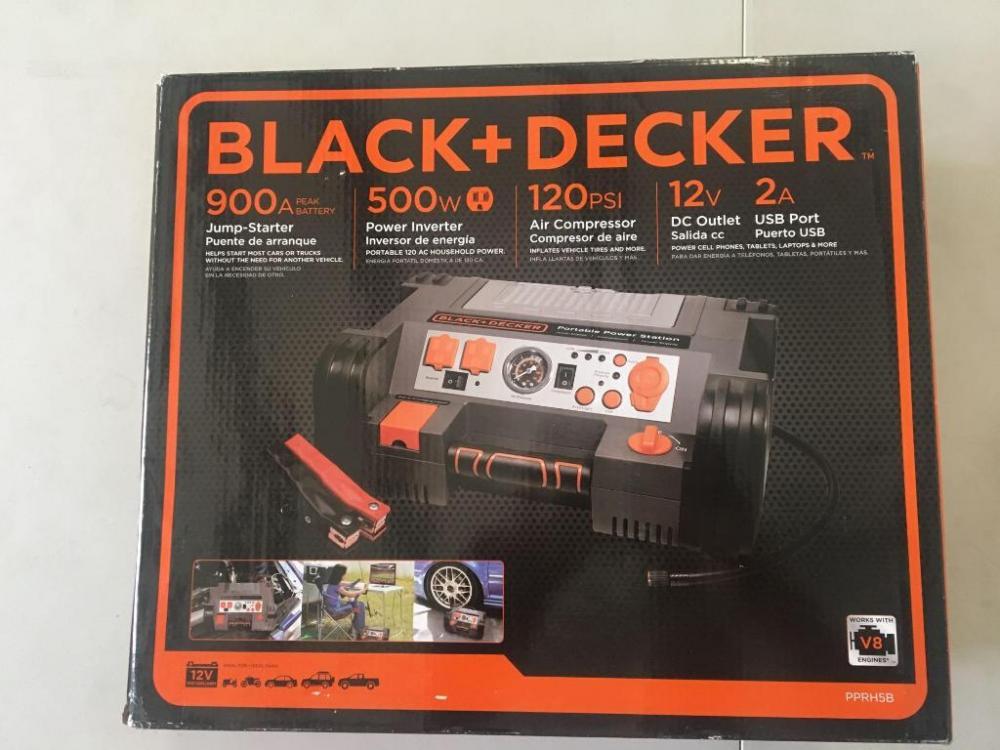 Black & Decker Jump Starter/Power Inverter/Air Compressor
