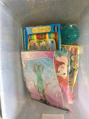 Lot of Infant Toys and Ariel Costume