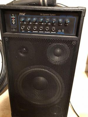 Pyle PA Speaker System with microphone