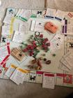 Vintage Monopoly game, wooden pieces no box has all cards