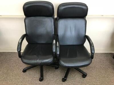 Pair of Black Office Chairs
