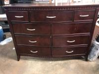 Tall wide dresser. Dark wood