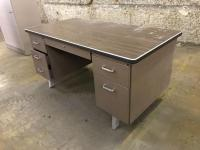 Office Desk with Metal Base