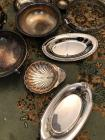 Large collection of silver plated items