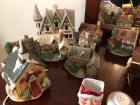 Collection of Christmas houses and Christmas decorations