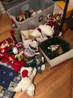 Large collection of Christmas decorations