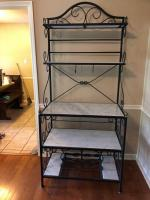 Italian marble and metal bakers rack, Bought in Italy